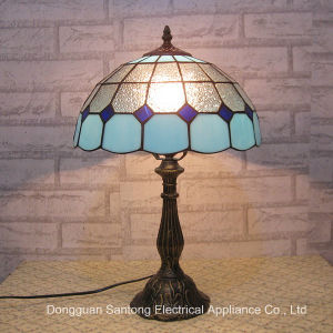 8 Inch Stained Glass Table Lamp Decorative Tiffany Table Light Indoor Lighting Fixture Antique Bronze LED Bulb pictures & photos