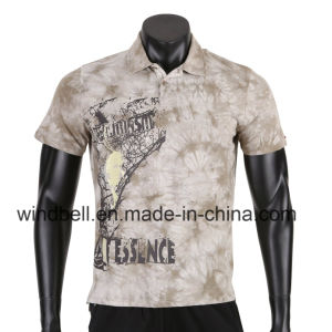 New Design T Shirt for Men with Garment Dye pictures & photos
