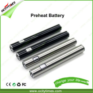 Ocitytimes S3 Hotselling 510 Thread Vape Button Cbd Preheat Battery pictures & photos