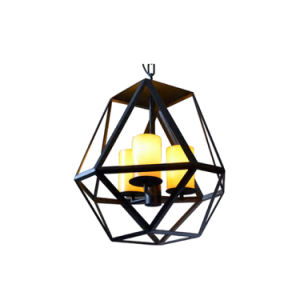Fashion Design Wrought Black Iron Cage Shaped Dining Room Lamp Oz-Al640 pictures & photos