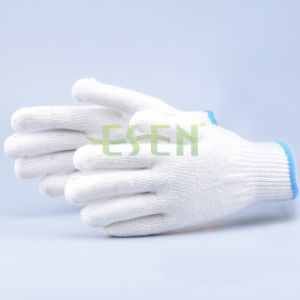 8guage Cotton Glove, White Cotton Knitted Glove, White Cotton Hand Gloves (K10-B1-5) pictures & photos