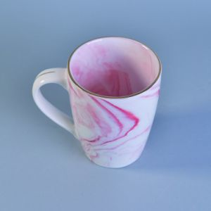 Factory Supplied Marble Patterned Ceramic Mug Sets for Coffee or Tea Drinking pictures & photos