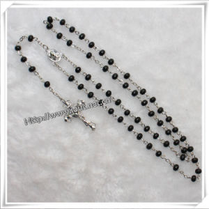Religious Plastic Small Beads Rosary with Pope Francis Connecting and Crucfix (IO-cr381) pictures & photos