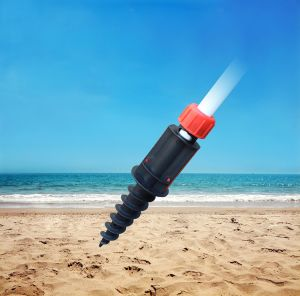Easy Folded Light Weight Portable Beach Umbrella Sand Anchor Auger pictures & photos