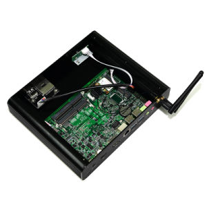 Fanless 7th Gen CPU I7 7500 Mini PC with 4G RAM 64G SSD pictures & photos