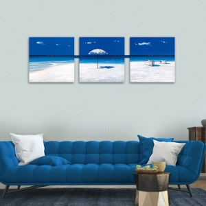 Best Price Promotion High Quality Wall Art Blue Sky Beach Seascape Canvas Prints pictures & photos