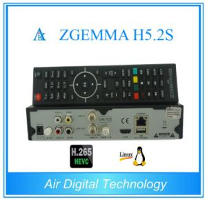 Worldwide Available TV Receiver Zgemma H5.2s Linux OS Enigma2 H. 265/Hevc DVB-S2/S2 Twin Sat Tuners pictures & photos