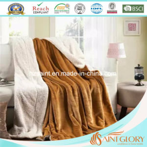 Factury Price 100% Polyester Sherpa Blanket pictures & photos