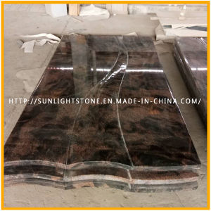 Customized India Aurora Granite Monuments/Headstone/Tombstone for European Style pictures & photos