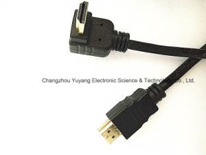HDMI 6.0 Right Angle Plug to Plug Moulded Type pictures & photos