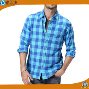 2017 Spring Men Cotton Flannel Shirt Design Stylish Shirts pictures & photos