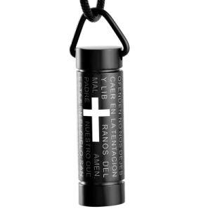 Black Cylinder Cremation Pendant Carved Scripture Necklace Pendant pictures & photos