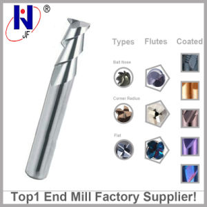 2/3 Flutes Tungsten Solid Carbide Flat Square Mill Ball Nose End Mill for Aluminum pictures & photos