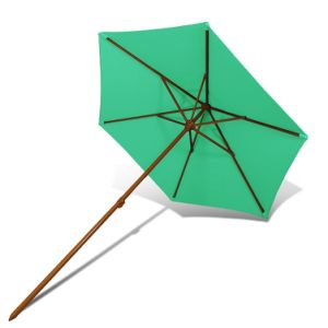 Wood 6ribs Polyester Beach Umbrella with Wind Vent pictures & photos