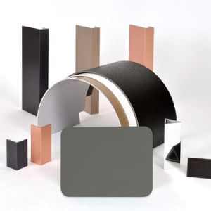 Aluis Exterior 6mm Aluminium Composite Panel-0.40mm Aluminium Skin Thickness of FEVE High Glossiness Grey pictures & photos