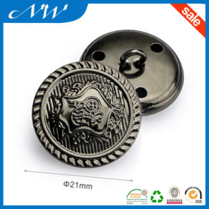 Hight Metal Brass Shank Sewing Button with Logo pictures & photos