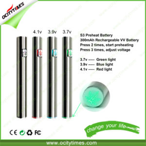 Ocitytimes E Cigarette 300mAh S3 Preheating Battery pictures & photos