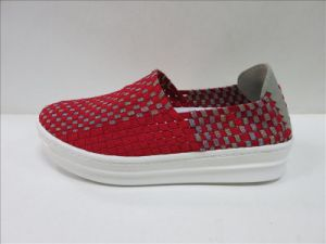 Flat Casual Hand Making Woven Shoes Ladies pictures & photos