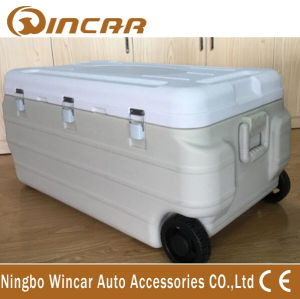 Different Capacity Insulated Trolley Ice Box Cooler with Wheel pictures & photos