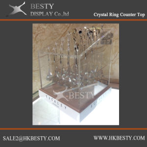 Crystal Ring Display Counter Top with Acrylic pictures & photos