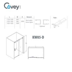 Simple Bathroom Shower Screen with Australia/ EU Standard (AKW05-D) pictures & photos