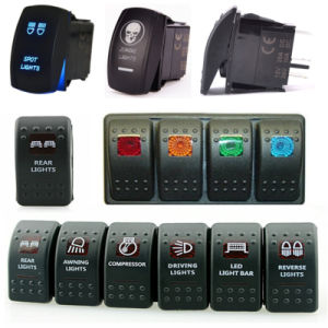 Auto LED Voltmeter Rocker Switch with USB Power Charger Plug pictures & photos