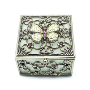 Handcrafted Glass Simple Style Jewelry Box Hx-7337 pictures & photos