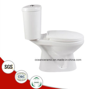 858 Economic Ce Water Closet Washdown Two Piece Ceramic Toilet pictures & photos