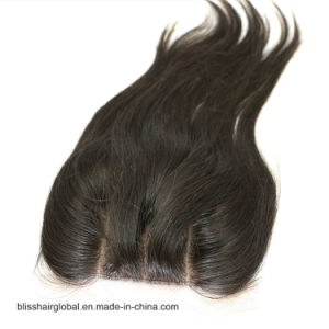 Bliss Hair 4X4 Lace Silk Base Closure Three/Free/Middle Part Top Swiss Silk Base Lace Closure Straight Peruvian Virgin Human Hair Closures Pieces pictures & photos