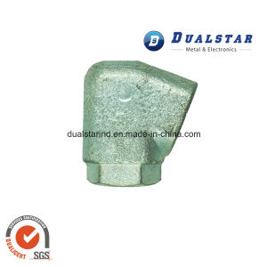 Zinc Plating Carbon Steel Elbow Casting for Chair Armrest