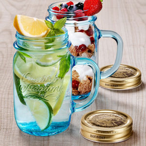 12oz 16oz Glass Mason Jar with Handle and Straw pictures & photos