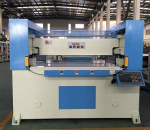 100t Automatic Receding Head Hydraulic Cutting Machine for Plastic pictures & photos