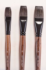 High Quality Squirrel Hair Wooden Handle Artist Art Brush pictures & photos