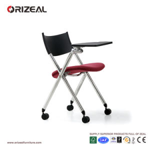 Orizeal Fabric Training Chair, Office Lecture Room Chair with Writing Table (OZ-OCV004CX-2) pictures & photos