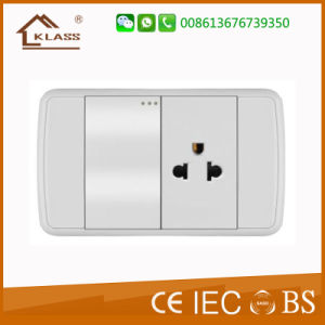 Top Quality White PC 1gang 3pole Wall Switch Socket pictures & photos