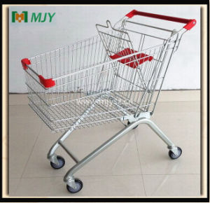 Zinc Plated Shopping Trolley Mjy-100b-PU pictures & photos