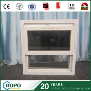 Plastic Frame UPVC Double Hung Windows Gray Glass Sash pictures & photos