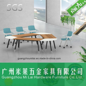 Latest Design Triangular Office Furniture Meeting Table with Hardware Foot pictures & photos