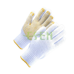 The Most Hot Sale PVC Dots Hand Gloves Working Gloves pictures & photos