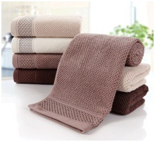Pure Cotton Thicken Plain Jacquard Towel, Custom Soft Hotel Towel pictures & photos