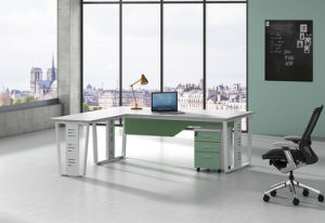White Customized Metal Steel Office Executive Desk Frame with Ht99-2 pictures & photos