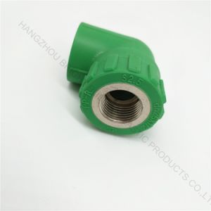 Hight Quality Injection Plastic Corner Joint with Screw Thread pictures & photos