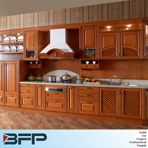 American Style Solid Wood Kitchen Cabinet Design pictures & photos