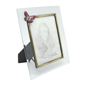 Decorating Beautiful Wedding Gift Glass Photo Frame Hx-1299 pictures & photos