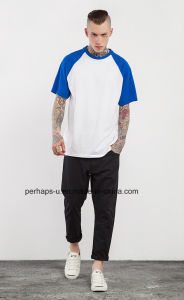 Men′s Raglan Sleeve Cotton T-Shirt with Custom Logo pictures & photos