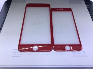 9h Tempered Glass China Red Screen Protector for iPhone7/iPhone7 Plus pictures & photos