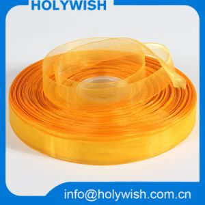 Free Sample Organza Band Polyester 100% Pure Silk Ribbon pictures & photos