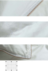 Luxury Solid Cover White Goose Down Filling Comforter Made in Xiaoshan pictures & photos
