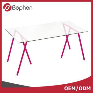 OEM Glass Top Computer Desk Cheap Modern Office Computer Desk 2008 pictures & photos