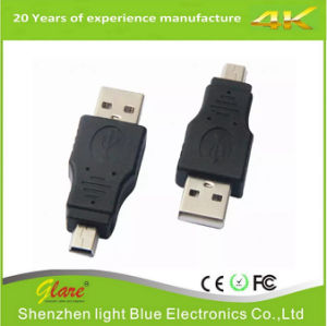 USB Af to Micro Adapter 5 Pin Male OTG Adapter pictures & photos